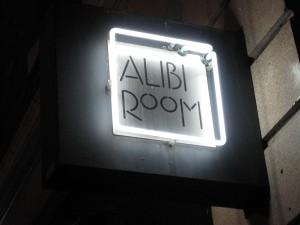 Alibi Room neon sign